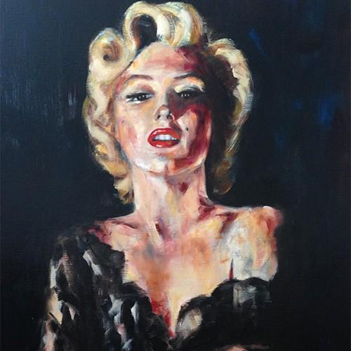 Marilyn 2, Huile sur toile, 80 x 100 copie